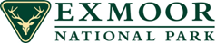 Exmoor National Park Logo with stags head in a green triangle