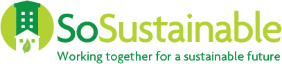 sosustainable partnership logo with strapline working together for a sustainable future